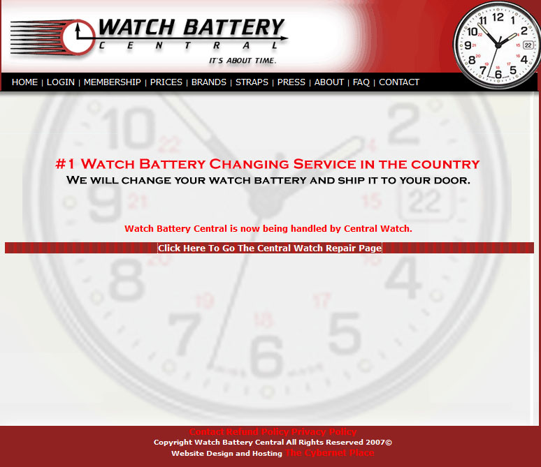 Watch battery Central